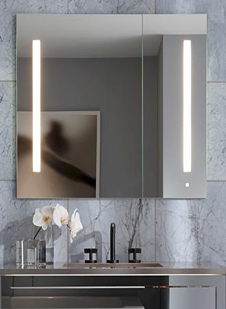 Built-in bathroom mirror 2019