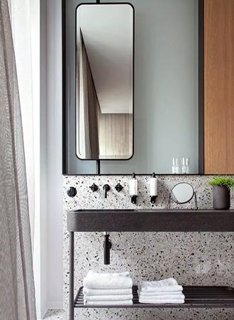 black hanging bathroom mirror 2019