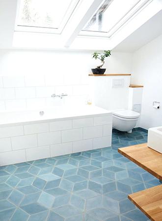 matt bathroom floor tiles