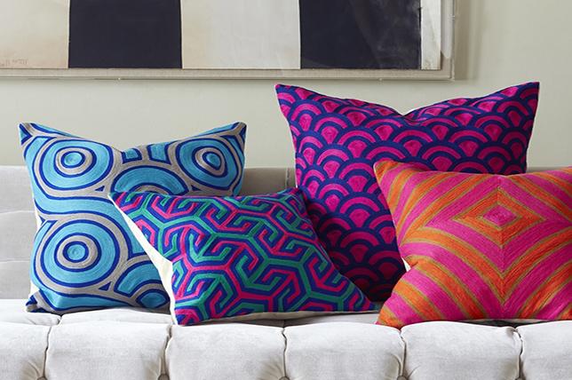 Art Deco decorative pillows 2019