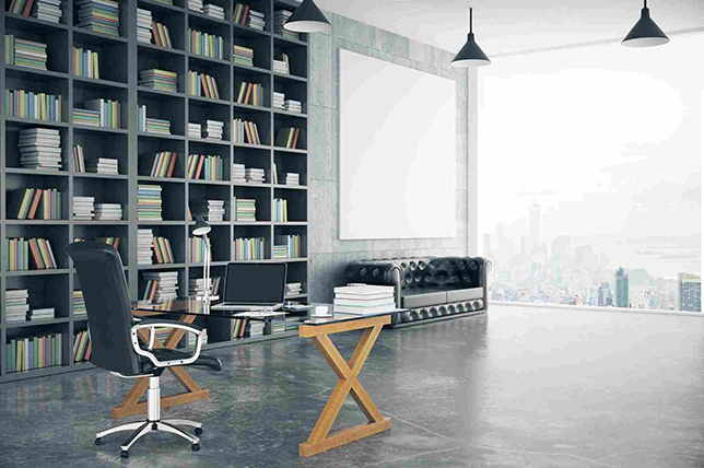 Summer Decorating Office Ideas bookcases