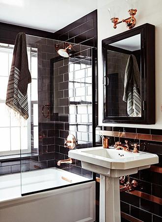 High gloss black enamel bathroom ideas 2019