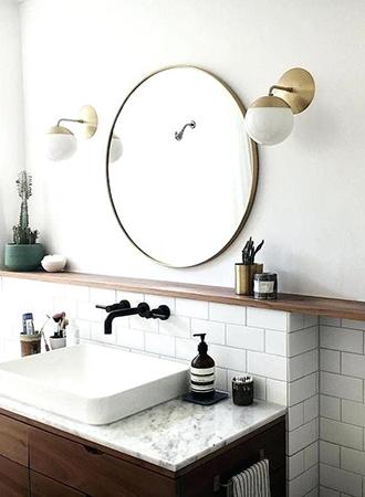 curved mirror bathroom ideas 2019