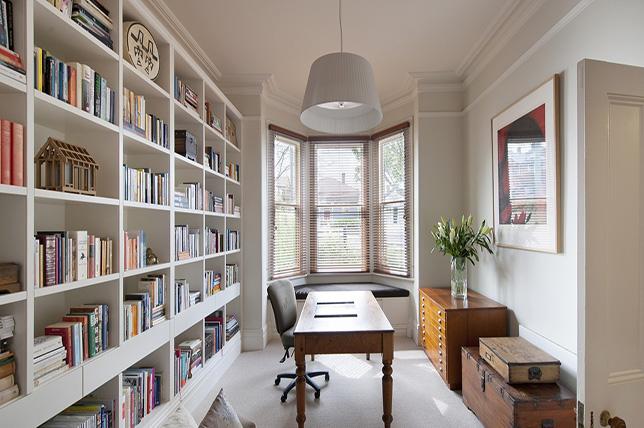 Fall decoration ideas bookshelves