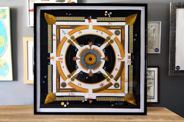 hermes framed scarf modern decor wall ideas 2019