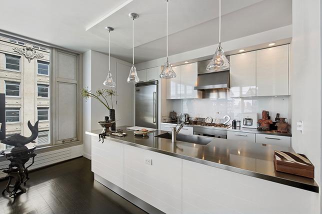 Stainless steel kitchen worktops