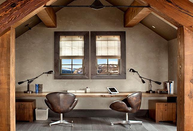rustic wood office furniture ideas