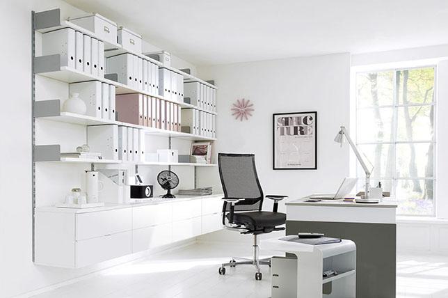 Storage wall office furniture ideas
