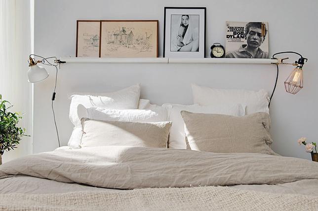 Ideas for small bedroom shelves