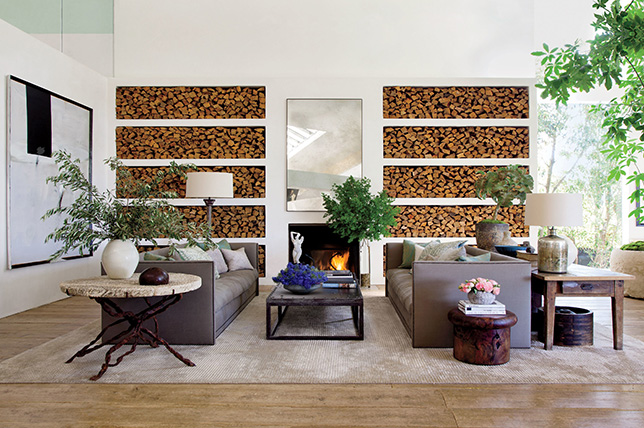 Storage fireplace ideas