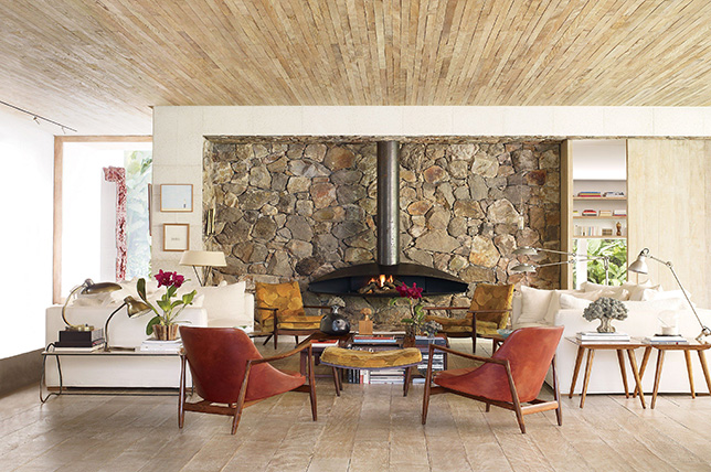rustic stone fireplace ideas