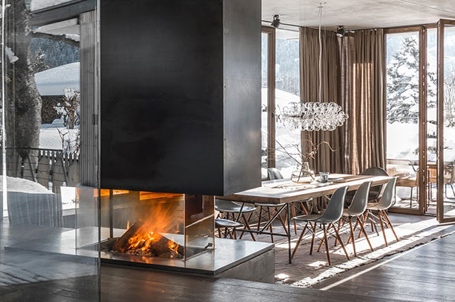 Design ideas for glass fireplaces