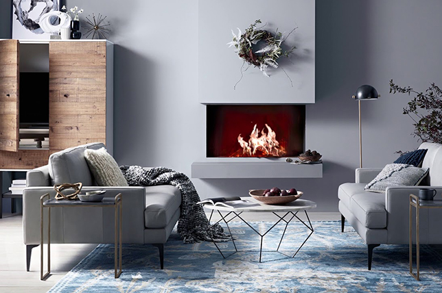 monochrome fireplace design ideas