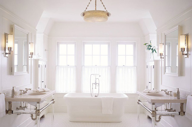 white modern bathroom ideas
