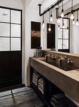 industrial modern bathroom