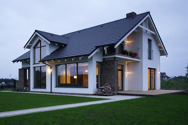 open saddle roofs