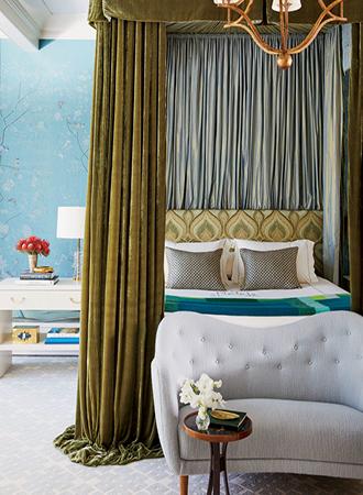 elegant modern four-poster bed