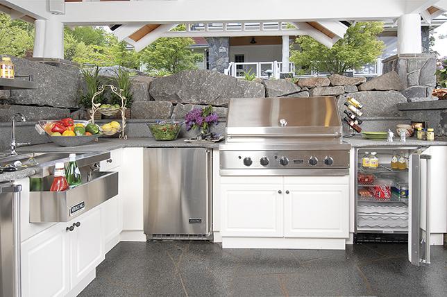 white outdoor kitchen ideas
