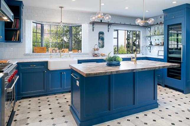 Ink blue kitchen color ideas