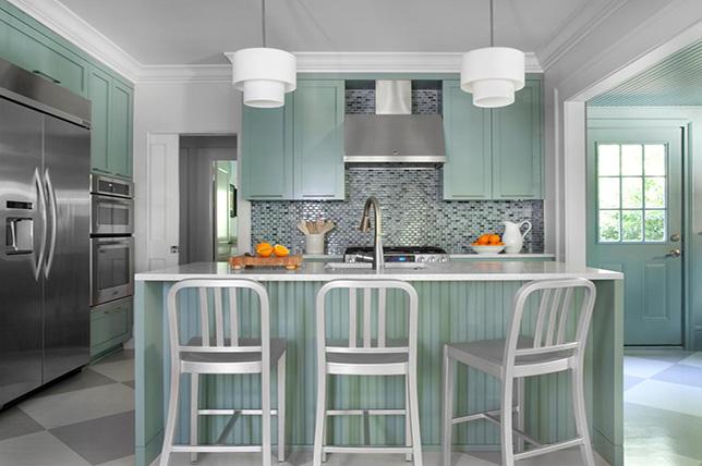 mist green kitchen color ideas