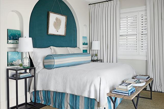 Aqua blue bedroom colors