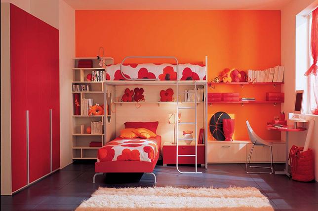 orange bedroom colors