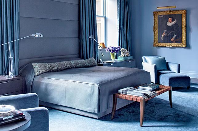 deep blue bedroom colors