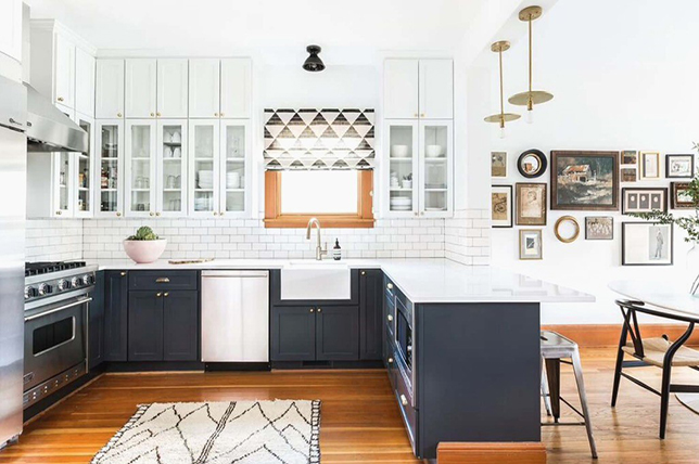 two-tone kitchen renovation trends 2019