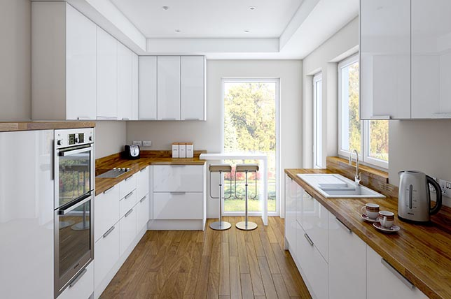 wooden kitchen counters