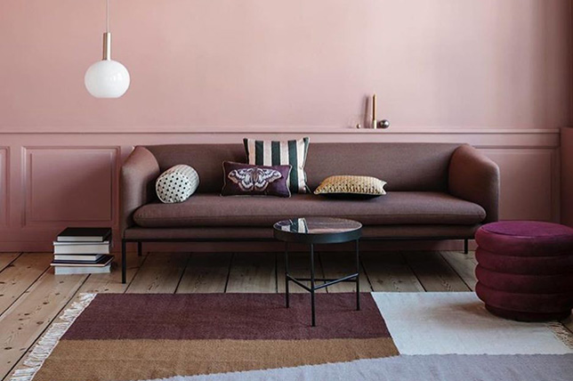 Living room colors faded pink