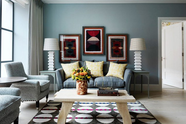 blue living room colors