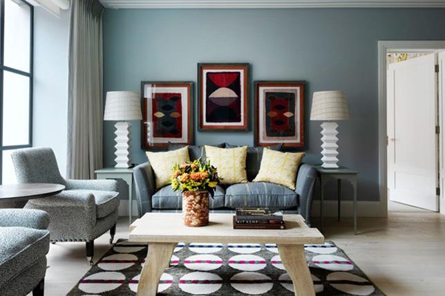 blue living room colors