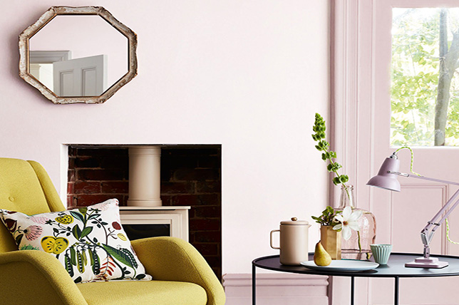 pink living room color colors