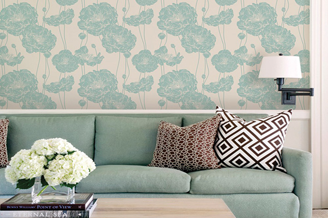 modern mint green living room colors