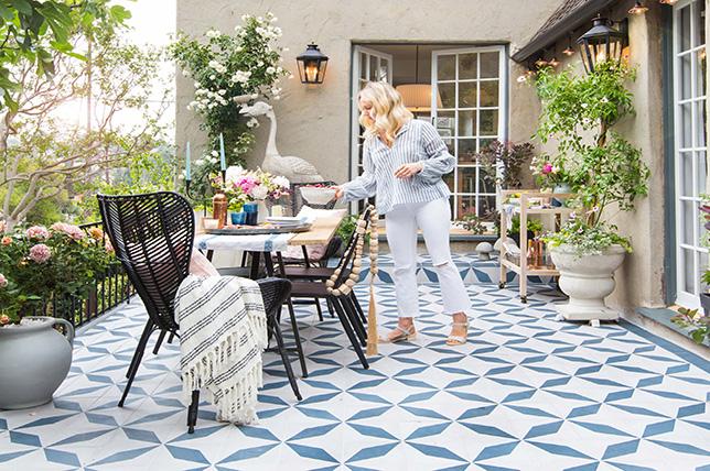 Ideas for tiled backyard patios