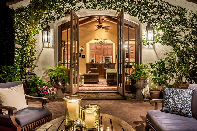 Terracotta backyard patio ideas