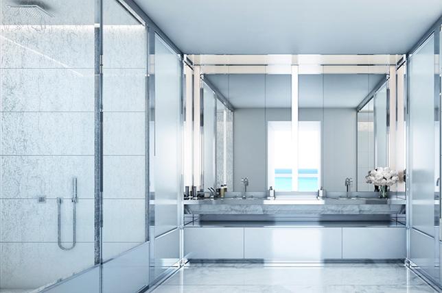 gray shower ideas