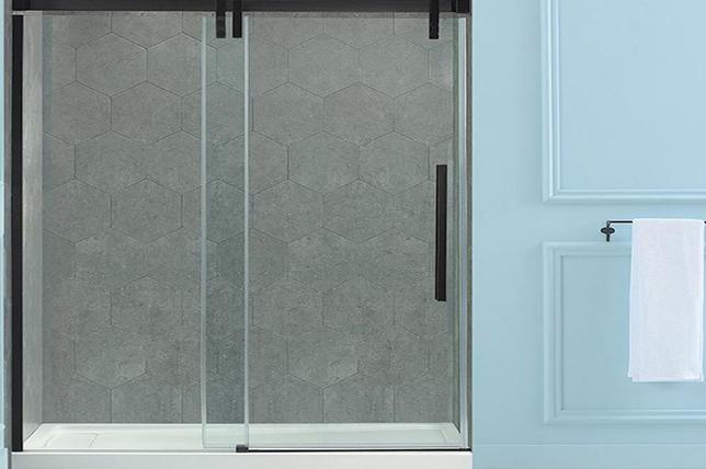 Glass stall doors shower ideas