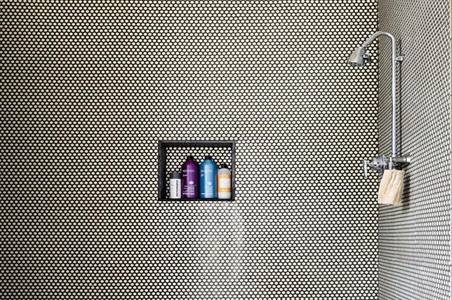 Penny tile shower cubicle ideas