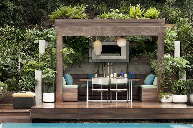 Outdoor summer decor ideas wood gazebo