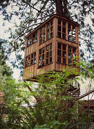 Outdoor summer decor ideas modern tree house