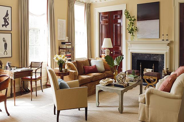 traditional interior design living room decor