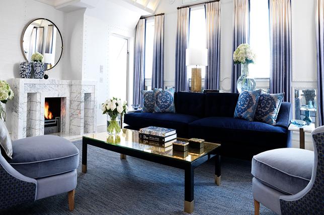 Art deco interior design color