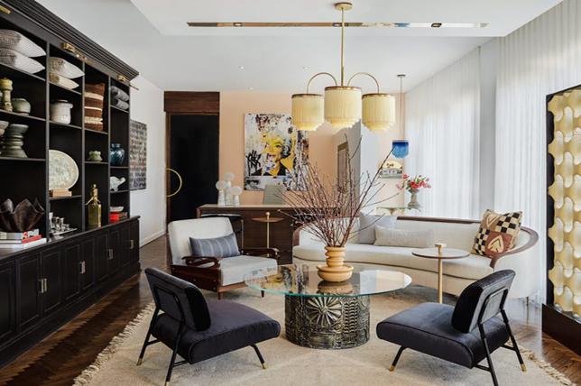 Art deco interior design lighting