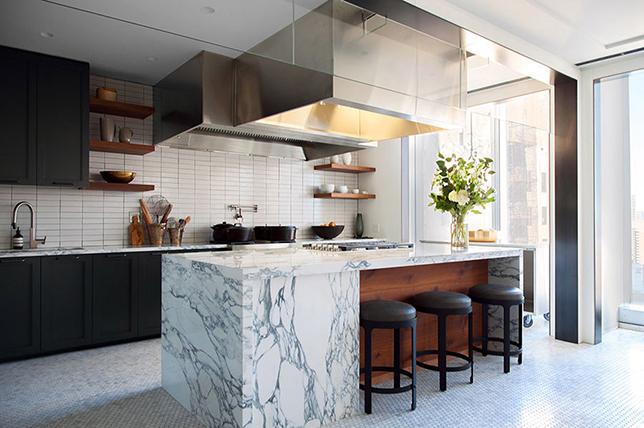 Interior design kitchen in contemporary style