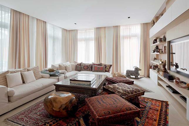 bohemian style interior design textiles