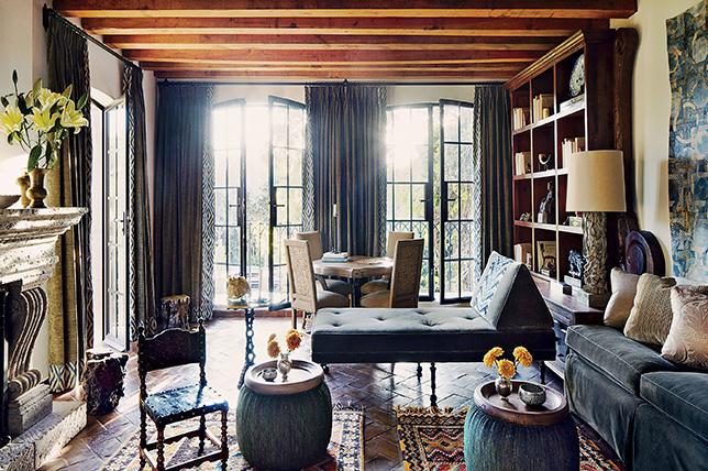 Vintage inspired bohemian style interior design