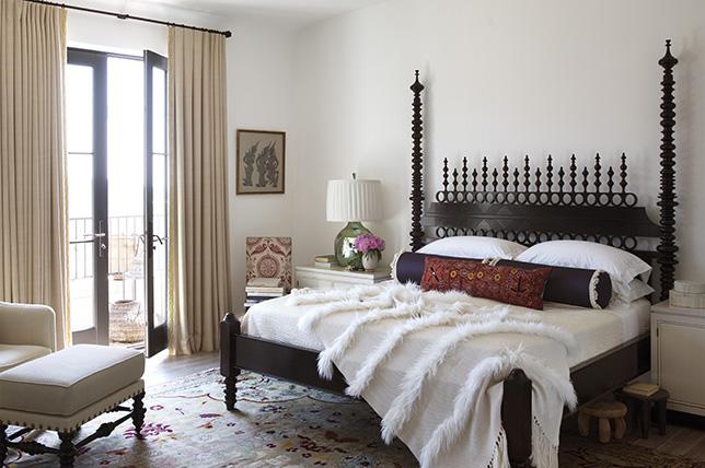 Bohemian style bedroom design