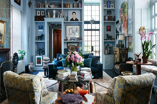 Interior design of the apartment in the bohemian style