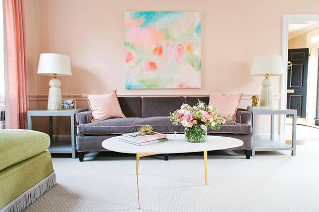 Pastel summer house interior design trends 2018